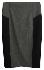 Express Pencil Panel Skirt Grey and black