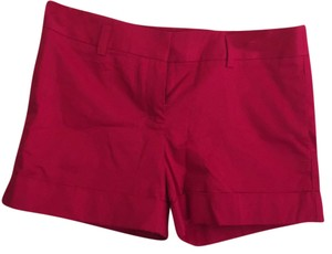 Express Structured Cuffed Shorts Red