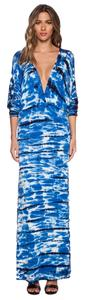 Blue Maxi Dress by Young Fabulous & Broke Maxi Tie Dye Night Out