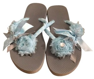 Old Navy Light blue/grey Sandals