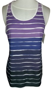 Champion Active Wear Stripes Top Purples/White