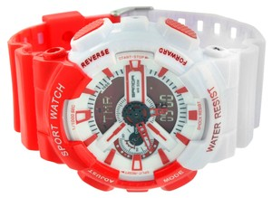 Red White Shock Resistant Watch Sports Design Digital-Analog Silicone Band Sale