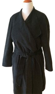 J. Jill Charcoal Wrap Plus-size Jjill Trench Coat