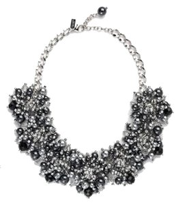 Kate Spade Holiday Party Perfect! Night Sky Mysterious! Kate Spade Crystal Constellation Necklace NWT Grey & Black Pearls Accented with Crystal Points!