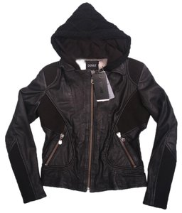 DOMA Lambskin Hooded Leather Jacket