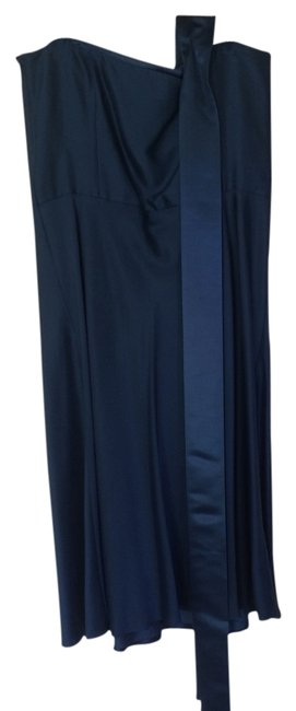 Item - Blue - Bridesmaid Above Knee Formal Dress Size 14 (L)