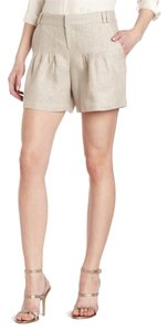 Parker Linen Metallic Dress Shorts Dusty Grey