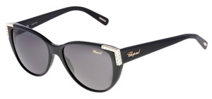 Chopard NEW Chopard SCH 105 Shiny Black Cat-Eye Swarovski Sunglasses