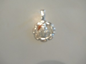Other New Sterling Silver La Virgen de Lourdes medal Pendant