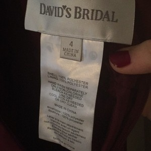 David's Bridal Wine Dress