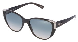 Chopard NEW SCH-105 Marble Grey Cat-Eye Luxury Swarovski Sunglasses