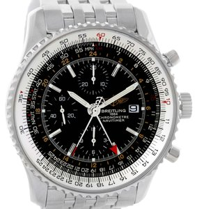 Breitling Breitling Navitimer World GMT Chronograph Black Dial Watch A24322