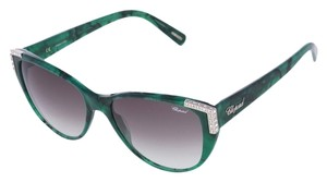 Chopard Chopard SCH-105 Women Marble Green Cat-Eye Luxury Swarovski Italian Fashion Sunglasses
