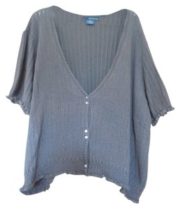 Calvin Klein Cotton Plus-size Short Sleeves Cardigan