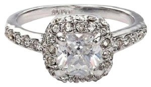 Fashion Plaza Princess Cut CZ Halo Fashion Ring