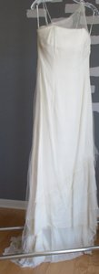 Brand New Asymmetrical Shoulder 100% Silk Wedding Dress