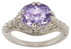 Apples of Gold Vintage Rose Amethyst Ring in .925 Sterling Silver (All Sizes)