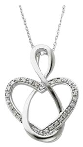 Apples of Gold Lifetime Friendship Heart Necklace in Sterling Silver