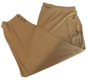 J. Jill Stretch Plus-size Capri/Cropped Pants Camel