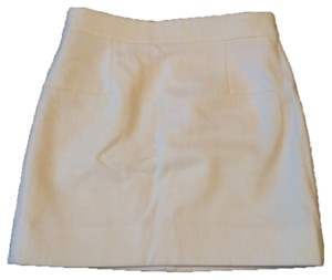 J.Crew Wool Mini Winter Ready Chic Sexy Mini Skirt Cream