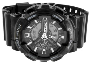 Other Mens Black Sports Watch Shock Resistant