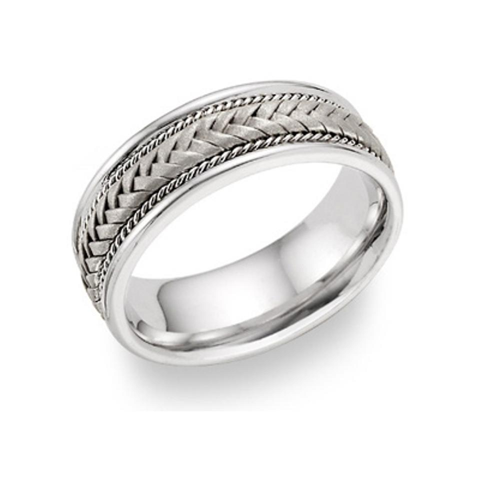 Apples Of Gold Silver Braided Ring Men S Wedding Band Tradesy