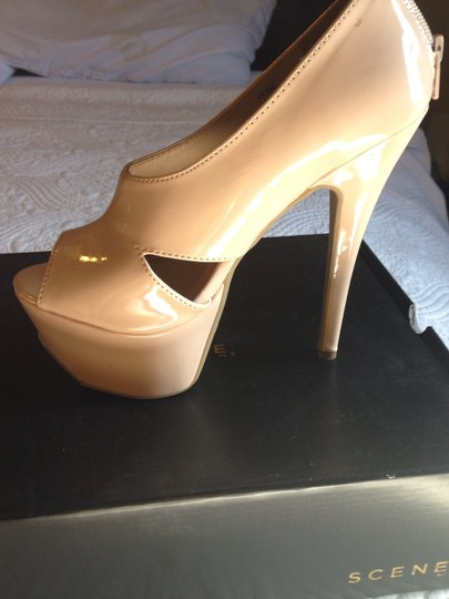 Scene Patent Leather Night Out Date Night Nude Pumps
