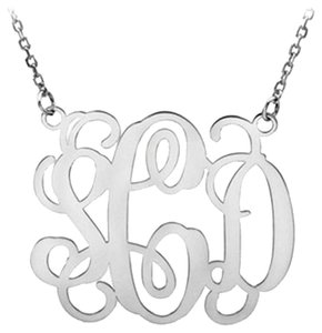 Apples of Gold Sterling Silver Monogram Personalized Necklace