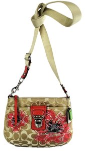 Coach Limited Edition Flower 47075 Coral Cross Body Bag