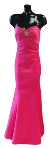 Faviana Satin Fitted Flare Prom Party Dress