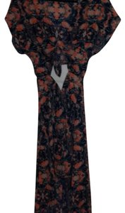 floral pattern green orange mostly Maxi Dress by Lush