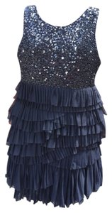 MM Couture Miss Me Sequin Tulle Tiered Pleated Dress