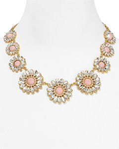 Kate Spade Exquisite Timeless Design! Kate Spade Estate Garden Necklace with Pink Faceted Gem Center NWT! Holiday Perfect for LBD!
