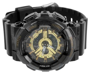Black Gold Shock Resistant Sports Watch For Men Digital Analog Water Resistant