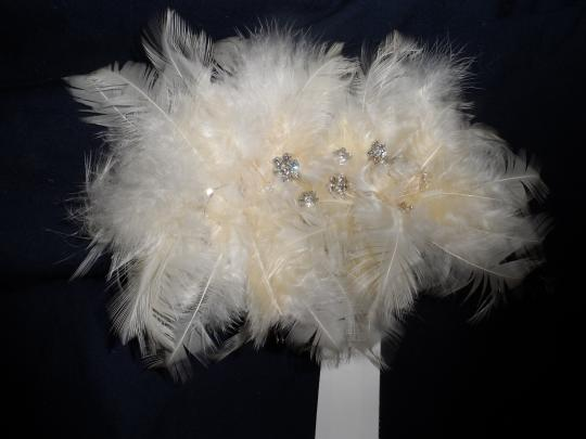 Bridal Feather Flower Hair Clip Accessory