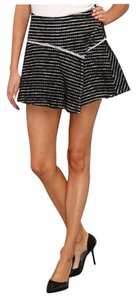 Free People Short Mini Black&white Mini Skirt Black/White
