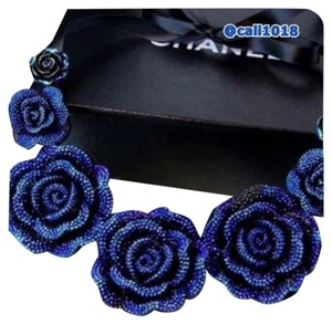 Other Irridescent Crystal Flower Satin Tie