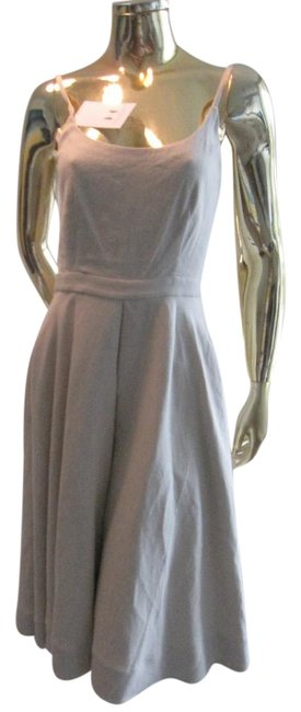 Item - Oatmeal /Dove Gray/Light Taupe Strappy Linen Short Casual Maxi Dress Size 4 (S)