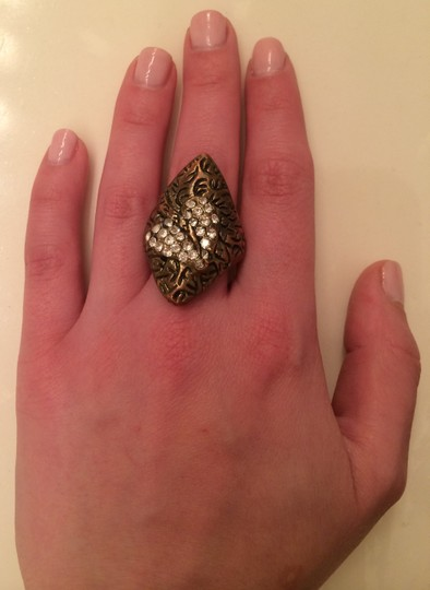 No Rest For Bridget Bronze Ring with Diamond Studded Heart