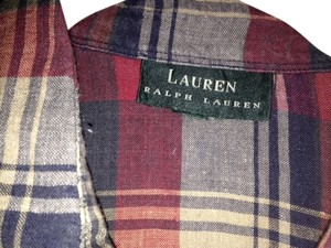 Ralph Lauren Button Down Shirt Red & Navy Plaid