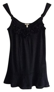 Other Flowers Flowerly Ruffle Top Black