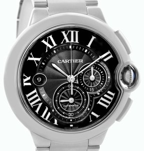 Cartier Cartier Ballon Bleu Mens XL Steel Chronograph Watch