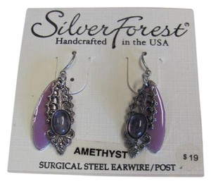 Silver Forest LAYERED AMETHYST STONE NEW ON CARD