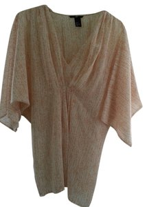H&M Beach Cover-up Cheetah Print Sheer Top Blush/Peach