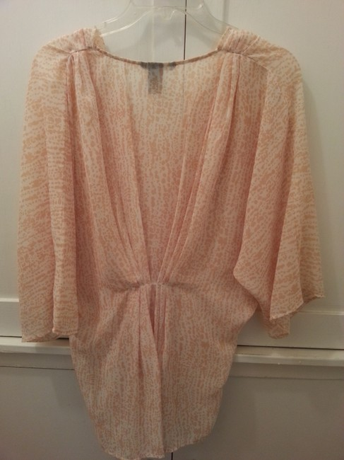 H&M Cover-up Cheetah Print Sheer Top Blush/Peach