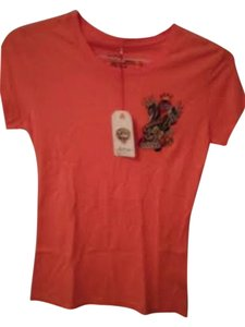 Ed Hardy New York T Shirt Orange
