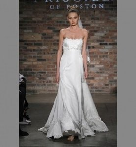 Priscilla of Boston Ivory Silk Satin 4606-designer-tracy-uomoleale Traditional Wedding Dress Size Other