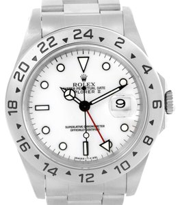 Rolex Rolex Explorer II White Dial Automatic Mens Watch 16570 Box