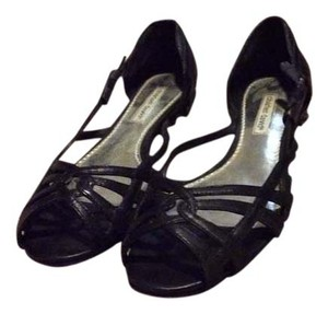 Charles David Peep Toe Flats Black Formal