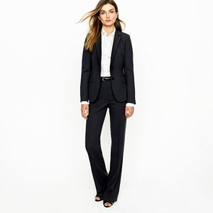 J.Crew 1035 Wool Crepe Dark Charcoal (almost black) Blazer